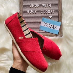 Toms Womens Classic Apple Red Heritage canvas Shoe